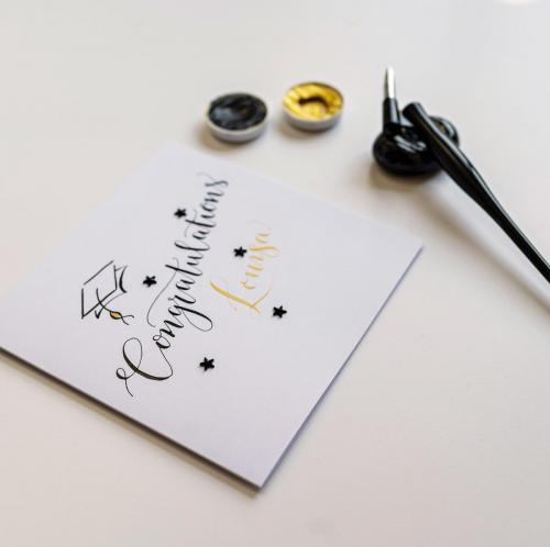 Calligraphy Congratulations Card